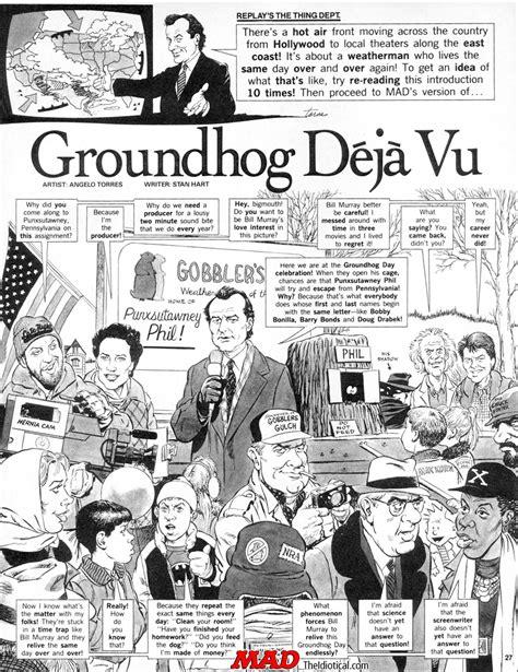 xena groundhog day mad s groundhog day satire mad magazine