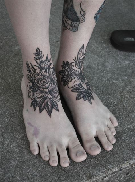ankle tattoo placement best 25 foot tattoos ideas on