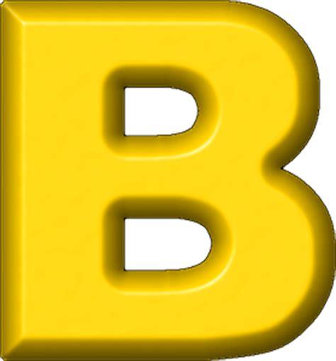 a b presentation alphabets yellow refrigerator magnet b