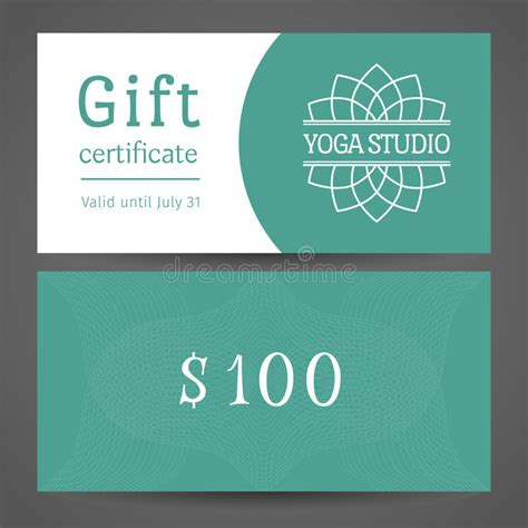 Gift Card Backer Template by Studio Vector Gift Certificate Template Stock Vector