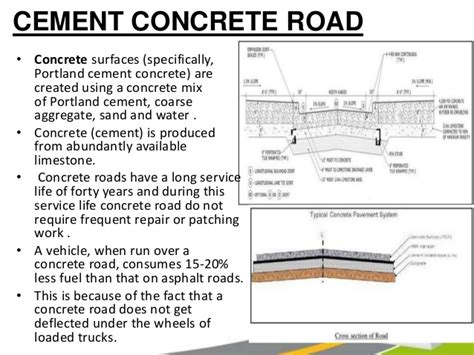 concrete road section roads pavements