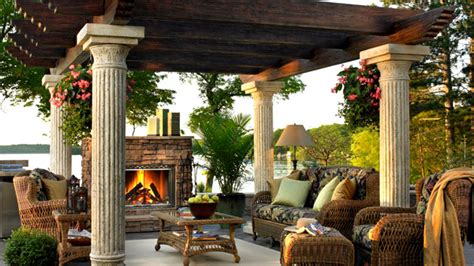 Tuscan Style Homes Interior 15 designs of pergolas to shade seating areas home