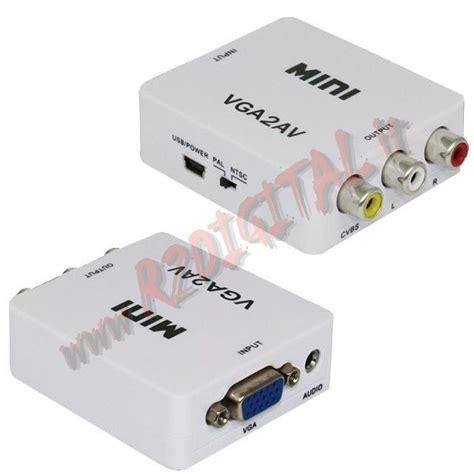 ingresso vga convertitore adattatore hdv 625 audio digitale ad