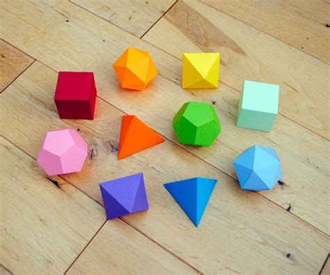 How To Make Geometric Shapes With Paper - i mathematics platonic solids garland minieco