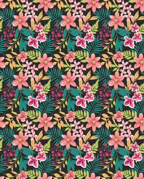 tropical wallpaper pattern tumblr the gallery for gt tropical floral pattern tumblr