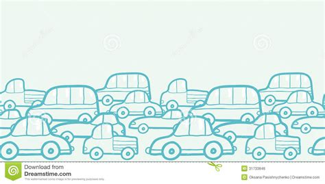 doodle car doodle cars horizontal seamless pattern background royalty
