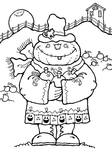 halloween coloring pages scarecrow kids scarecrow coloring pages