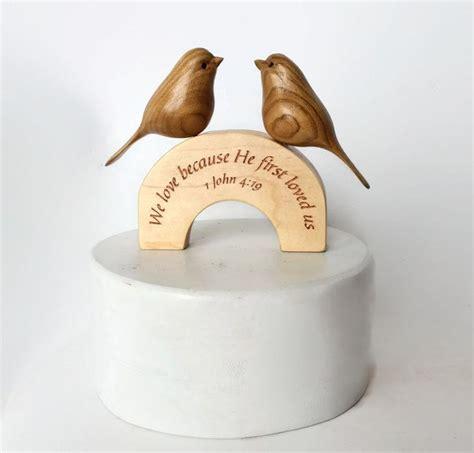 Christian Wedding Cake by Christian Wedding Cake Topper Handmade Wooden Bird Cake