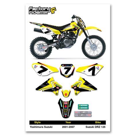 Suzuki Motorcycle Graphics 2001 2007 Suzuki Drz 125 Dirt Bike Graphics Kit Motocross