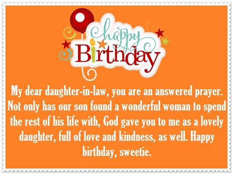 daughter in law happy birthday quotes and greetings