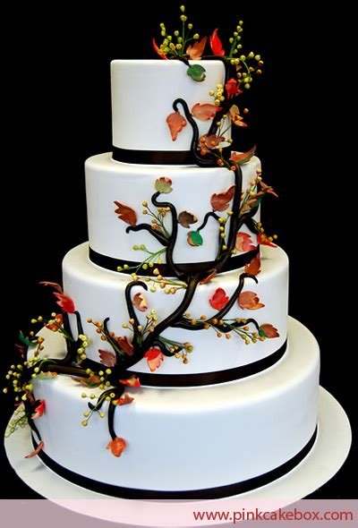 Fall Wedding Cakes by 4 Tier Fall Wedding Cake 187 Fall Wedding Cakes