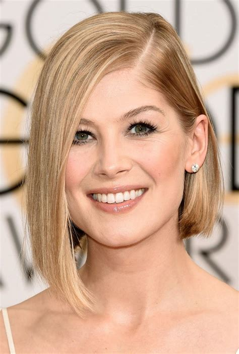bob haircuts rosamund pike top 10 hairstyles to fresh up your look top inspired