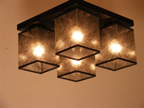 Brown Ceiling Light Shades Basari Ceiling Lights Wenge Brown Wood Four Fabric L Shades Big Rustic Other Metro