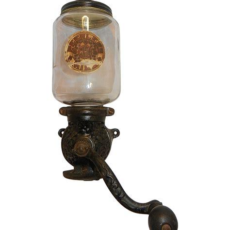 Antique Jar Ls by Antique Peerless Mill Coffee Grinder And Original Jar