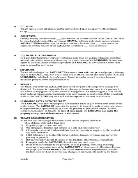 residential lease agreement pa printable pennsylvania standard residential lease agreement free