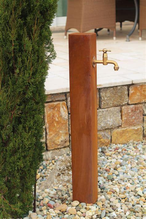Wasserhahn Im Garten by Zapfstelle Cordon 100 Inkl Wasserhahn Cortenstahl Wasserzapfstelle F 252 R Garten Z100