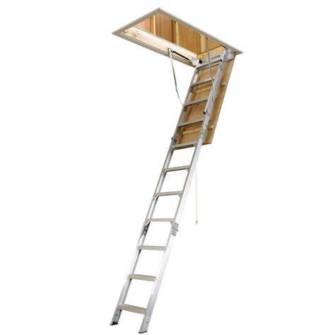 werner 8 ft 10 ft 25 in x 54 in aluminum attic