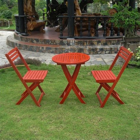 3 pc folding patio bistro set in red tt vn 0158 brd