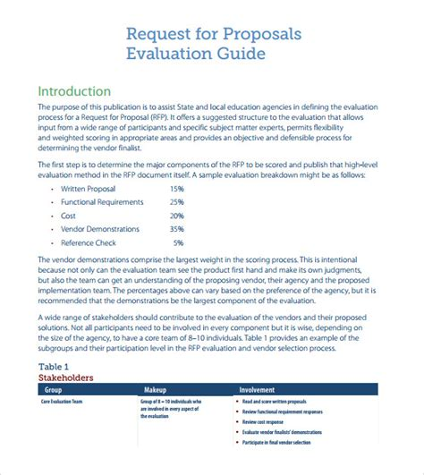 Rfp Templates Free 9 Rfp Templates For Free Download Sle Templates