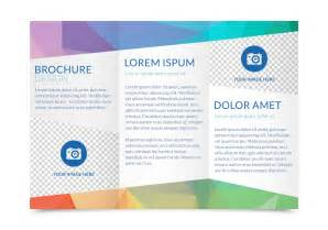 Free Template For Tri Fold Brochure by Free Tri Fold Brochure Vector Template Free
