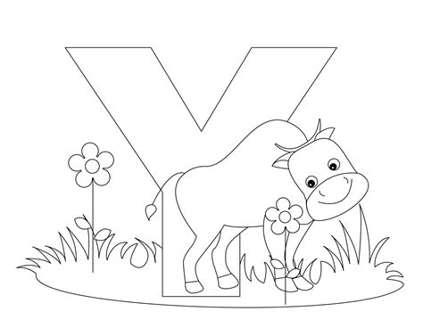 Letter Y Coloring Pages by Free Printable Alphabet Coloring Pages For Best