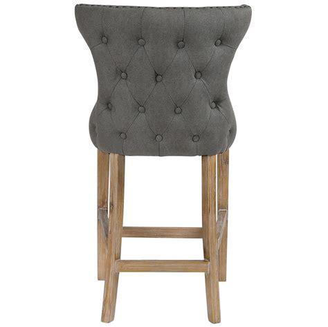 gray linen counter stool grover coastal grey linen wing back counter stool