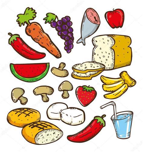 dibujo alimentos doodle alimentos saludables archivo im 225 genes vectoriales
