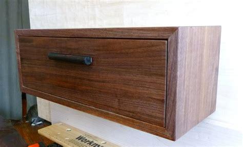 Floating Nightstand Shelf Custom Walnut Maple Floating Nightstand Wall Shelf With Drawer Deco Mi