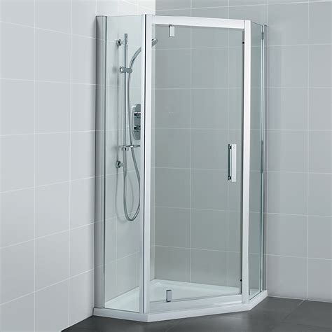pivot door shower enclosure ideal standard synergy 800mm pivot door pentagon shower