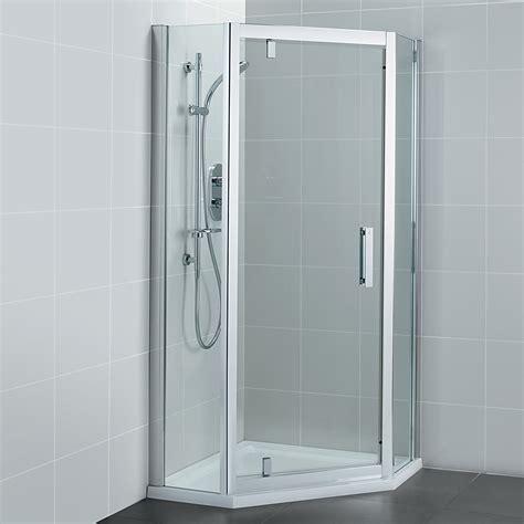 Pivot Door Shower Enclosure Ideal Standard Synergy 800mm Pivot Door Pentagon Shower Enclosure