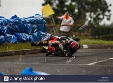 Armoy, Northern Ireland. 30th July, 2016. Michal Dokoupil ... 2016 Isle Of Man Crashes