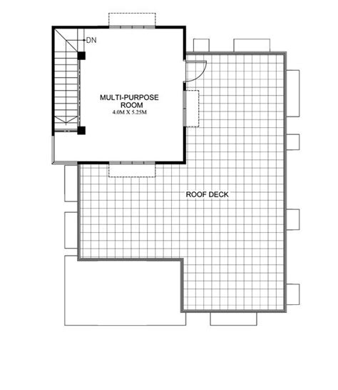 deck floor plan maryanne one storey with roof deck shd 2015025 pinoy