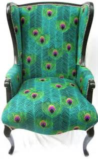 Printed Armchair Design Ideas Peacock Fabrics And Frames Furniture