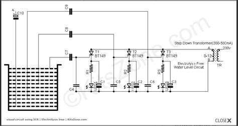 why resistors are used in water level indicator water level circuit using scr visual water level indicator circuits tank level indicator