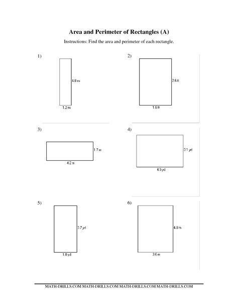 Rectangle Worksheet by 6 Best Images Of Area Of A Rectangle Worksheet Rectangle