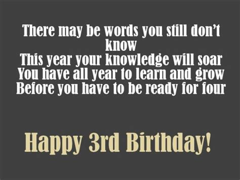 3 Year Birthday Quotes 3rd Birthday Messages Wishes And Poems