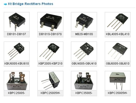 diode package types pdf kingtronics international company bridge rectifier