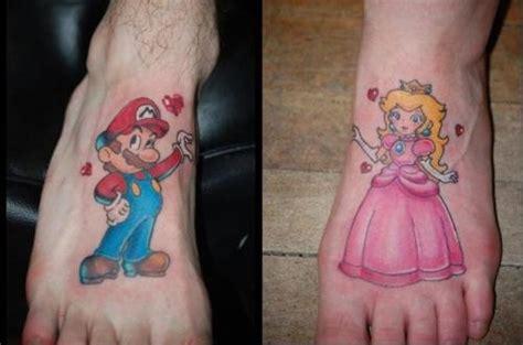 nerd couple tattoos mario s beautiful