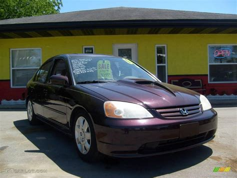 2001 vintage plum pearl honda civic ex sedan 11480533 gtcarlot car color galleries