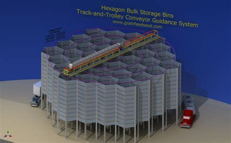 layout bin 3d design layout engineering of grain feed seed