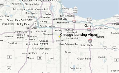 chicago map with airports chicago lansing airport weather station record