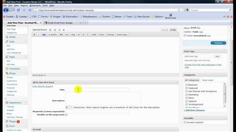 tutorial video wordpress beginner wordpress tutorial video youtube