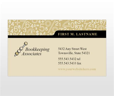 accounting bookeeping services business card templates