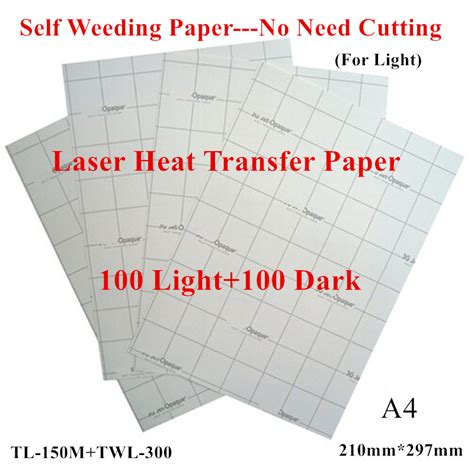 How To Make Heat Transfer Paper At Home - 200pcs 100 light 100 laser transfer paper a4 paper