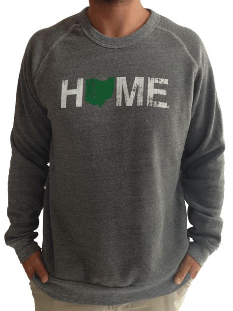 h s ohio crew neck s ohio home sweatshirt green bop be ohio proud