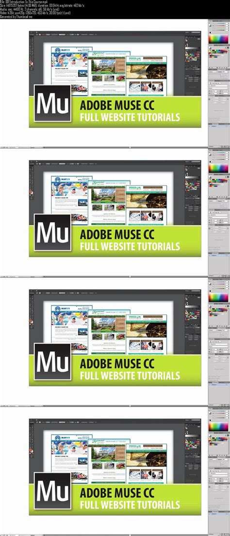 website tutorial from start to finish udemy adobe muse full website tutorials from start to