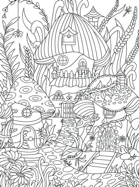 enchanting flowers coloring page hidden garden  adult