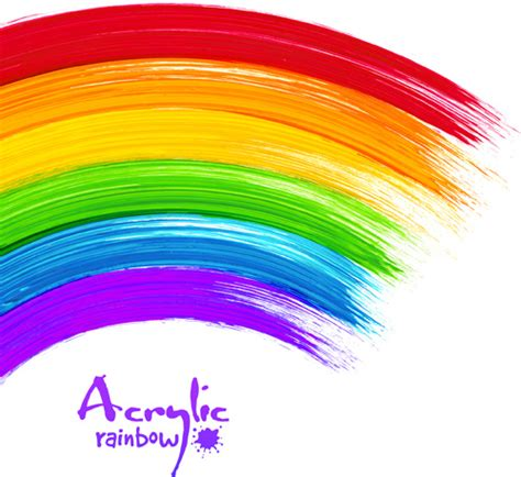 beautiful rainbow paint design vector free vector in adobe illustrator ai ai vector