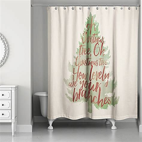 bed bath and beyond tree shower curtain watercolor christmas tree shower curtain in green red