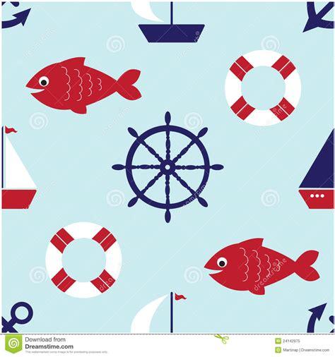 cute nautical pattern cute nautical seamless pattern royalty free stock photo